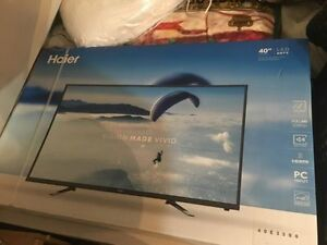 "40"" LED Haier tv brand new"