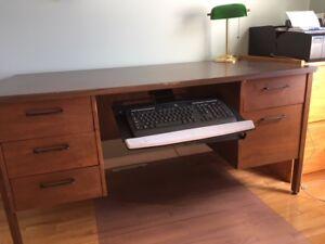 Desk double pedestal