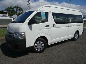 2012 Toyota Hiace KDH223R MY11 Upgrade Commuter White 4 Speed Automatic Bus Bungalow Cairns City Preview