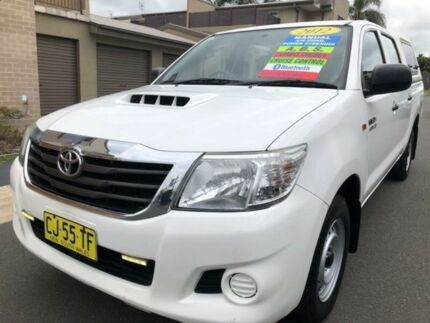 2012 Toyota Hilux KUN16R MY12 SR White 5 Speed Manual Dual Cab Pick-up Waratah Newcastle Area Preview