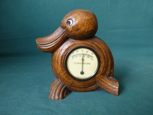 Vintage SyrocoWood Syracuse NY  Figural Duck Thermometer