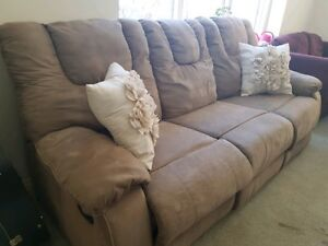Plush Deerskin Colour Reclining Couch - $235 obo