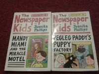 The Newspaper Kids by Juanita Phillips - Books 2 & 3 of series - Used books in good condition