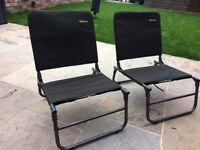 Two Wychwood fishing/camping chairs