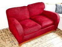 Modern 2 seater Red sofa