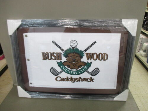 """CaddyShack Bush Wood Country Club Golf Flag Framed 27"""" x 19"""""""