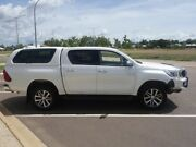2016 Toyota Hilux GUN126R SR5 Double Cab Crystal Pearl 6 Speed Automatic Dual Cab Gray Palmerston Area Preview