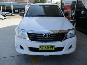 2014 Toyota Hilux GGN15R MY14 SR Glacier White 5 Speed Automatic Dual Cab Pick-up