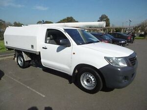 2012 Toyota Hilux TGN16R MY12 Workmate White 5 Speed Manual Cab Chassis Yagoona Bankstown Area Preview