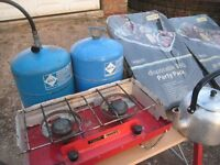 Camping cooker etc