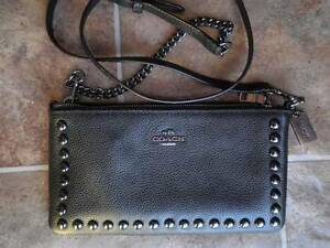 Coach - Accordion Zip Wallet Bag (Rivets Pebble Leather). Petersham Marrickville Area Preview