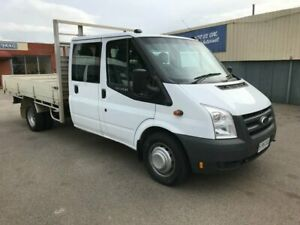 2010 Ford Transit VM 140 T460 Dual Cab Ute White Manual Woodville Charles Sturt Area Preview