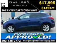 2013 Hyundai Tucson AWD $149 bi-weekly APPLY NOW DRIVE NOW