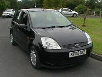 05 REG FORD FIESTA 1.25 STUDIO 5 DOOR HATCHBACK IN BLACK HPI CLEAR LOW INSURANCE