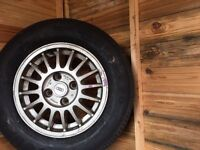 Audi 14 inch alloy rims and part worn tyres