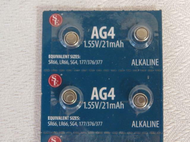377A AG4 Alkaline Fresh Watch Batteries Package of 10 SE 1.55V/21mAh