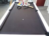 Pre Owned 6ft White Supreme Pool Table