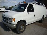 2002 Ford E250 Cargo van,valid e-test,Roof rack,extra seat