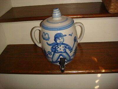 Large M.A. Hadley Pottery Tea or Water Drink Dispenser Crock Jar