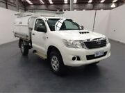 2012 Toyota Hilux KUN26R MY12 SR (4x4) White 5 Speed Manual Cab Chassis Fyshwick South Canberra Preview