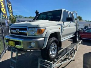 2018 Toyota Landcruiser VDJ79R GXL Double Cab White 5 Speed Manual Cab Chassis McGraths Hill Hawkesbury Area Preview