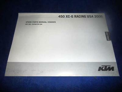 KTM Spare Parts Manual Chassis 2006 450 XC-G Racing USA