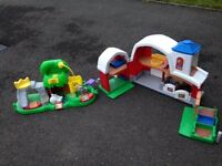 Fisher Price Farm and Zoo animal toys