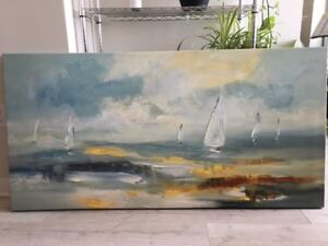 Canvas Painting of Boats
