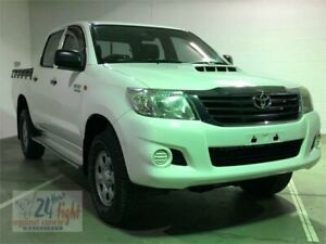 2012 Toyota Hilux KUN26R MY12 SR White Automatic Utility Campbelltown Campbelltown Area Preview