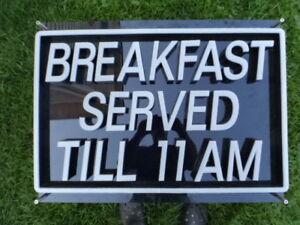 Restaurant LED Breakfast Sign.Fixed lettering