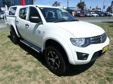 2011 Mitsubishi Triton MN MY11 GLX (4x4) White 4 Speed Automatic 4x4 Dual Cab Utility Belconnen Belconnen Area Preview