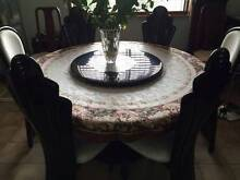 Italian style modern dining suite with lazy Susan Croydon Park Canterbury Area Preview