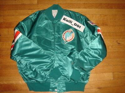 Miami Dolphins Vintage Starter Jacket Size Large OG Satin Bulls LA B