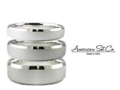 Bevelled Platinum Wedding Ring (Solid Platinum 950 Wedding Band Beveled Matte Comfort Fit Ring )