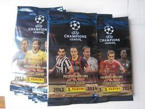 10 Sealed Packs NEW Panini Adrenalyn Xl UEFA Champions league 2013 / 2014