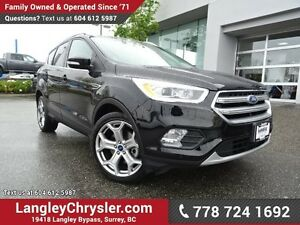 2017 Ford Escape Titanium ACCIDENT FREE w/LEATHER UPHOLSTERY...