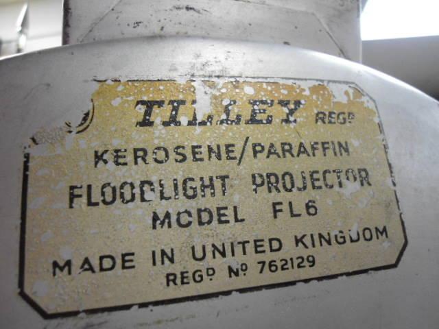 British Army Tilley FL6 Floodlight Projector w/Tripod and Box