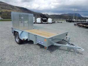 NEW 6x10' GALVANIZED STEEL SIDE UTILITY TRAILER 2990lb gvw