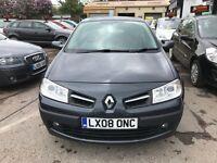 2008 Renault Megane 1.6 VVT Dynamique Proactive 5dr AUTOMATIC, LOW MILEAGE+ WARRANTY