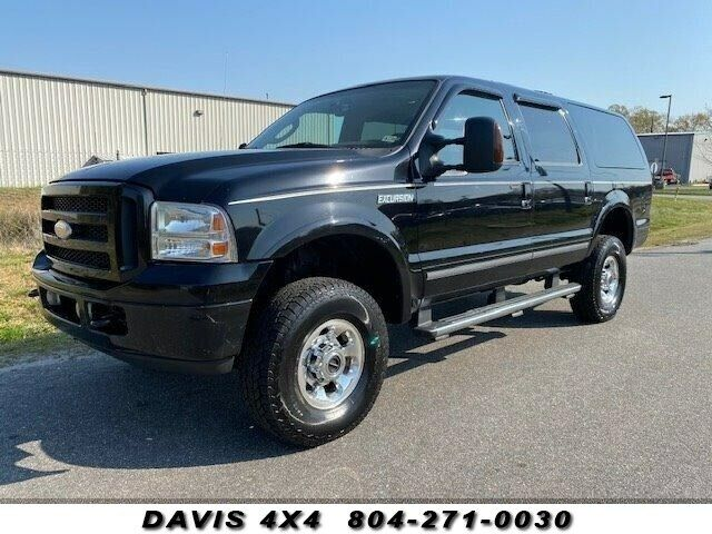 2005 FORD EXCURSION 4x4 Powerstroke Diesel Limited 250032 Miles Black Clearcoat
