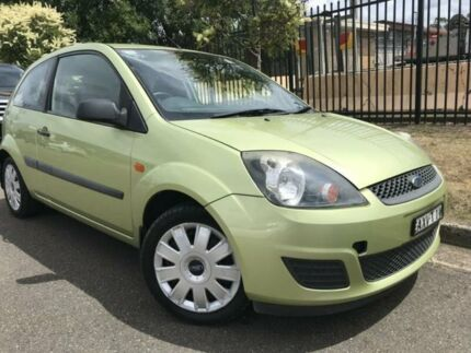 2006 Ford Fiesta WQ LX Light Green 5 Speed Manual Hatchback Cambridge Park Penrith Area Preview