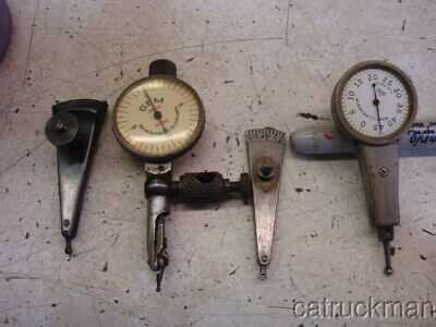 4 Vintage Machinists Test Indicators By Gem Ideal Pearson Reich