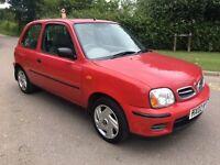 2002 Nissan Micra 1.0 Vibe cheap small car cheap insurance low mileage 72,000 12 months mot