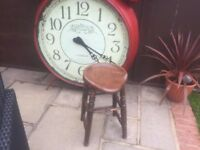 Heavy Duty Solid Oak Stool - Antique And Sturdy - For Only £55
