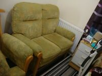 High Back Two Seater and armchair Sofa
