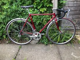 Bianchi Road Bike Columbus Tubing 52CM Metallic Red Excellent Condition Shimano 105 Group Set