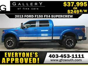 2013 FORD F150 FX4 LIFTED *EVERYONE APPROVED* $0 DOWN $249/BW!