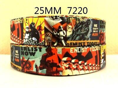 "STAR WARS STORM TROOPER RIBBON 1"" Wide or 25mm NEW  UK SELLER FREE P&P"