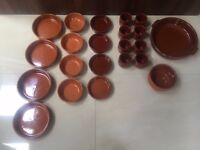 Selection of 20 Terracotta Tapas dishes, dessert bowls and a casserole dish. Collect Fulham