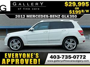 2012 Mercedes GLK350 4Matic $199 bi-weekly APPLY NOW DRIVE NOW